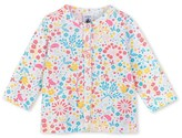 Petit Bateau Baby girls floral print cardigan