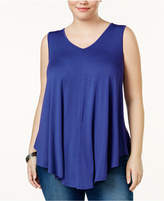 Soprano Trendy Plus Size Swing Tank Top