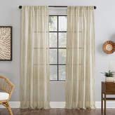 Archaeo Bamboo Stripe Sheer Rod-Pocket Single Curtain Panel