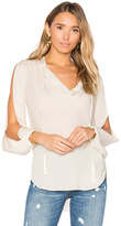 Haute Hippie Classic Cowl Blouse in White