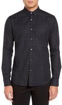 Theory Men's Zack Ps Selwyn Trim Fit Plaid Sport Shirt