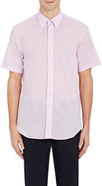 Barneys New York MEN'S VOILE SHORT-SLEEVE SHIRT-LIGHT PURPLE SIZE S