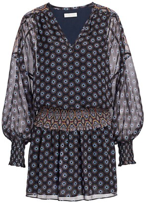 Ramy Brook Medallion Print Silk Mini Dress