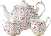 Royal Albert Rose Confetti Vintage 3-pc. Teapot Set
