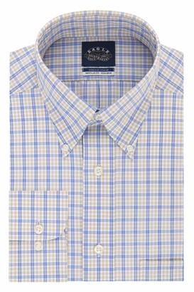 Eagle Men's Non Iron Stretch Bd Collar Regular Fit Check Dress Shirt