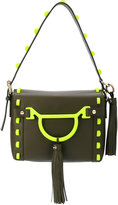 Borbonese embroidered shoulder bag - women - Cotton/Leather - One Size