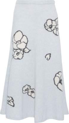 ADAM by Adam Lippes Cashmere And Silk-blend Jacquard Midi Skirt