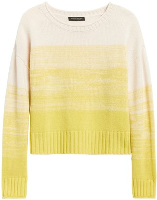 Banana Republic Cashmere Ombre Cropped Sweater