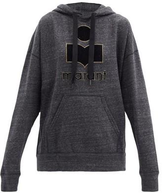 Etoile Isabel Marant Mansel Logo Hooded Cotton-blend Sweatshirt - Dark Grey