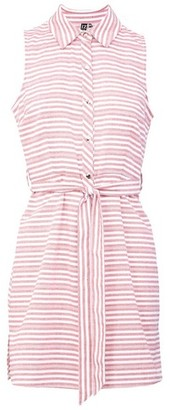 Dorothy Perkins Womens *Izabel London Pink Striped Tie Waist Shirt Dress