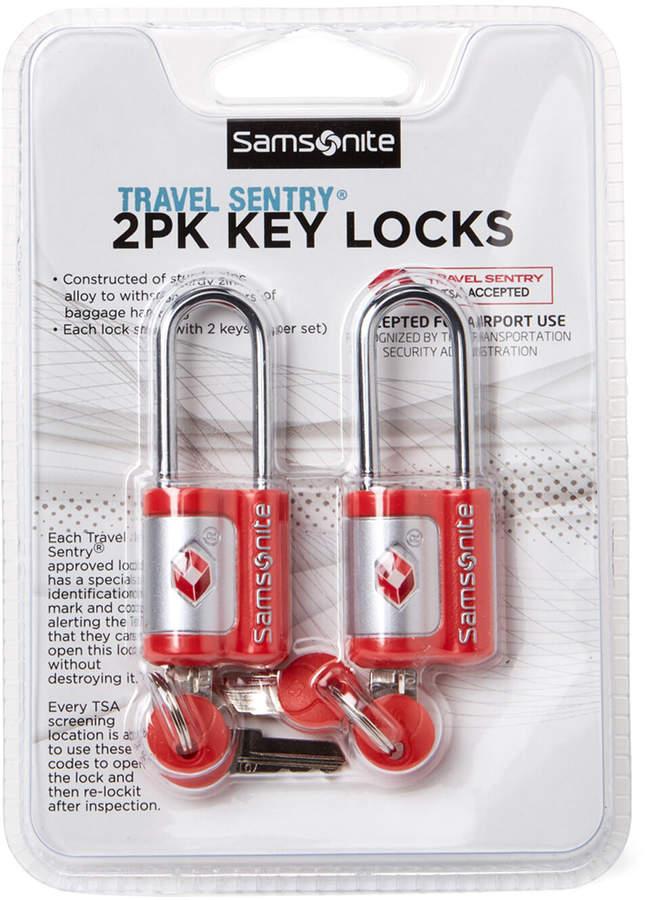 96c1b90435de Two-Pack Red Travel Sentry Key Locks