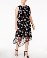 Alfani Plus Size Embroidered Fit & Flare Dress, Only at Macy's