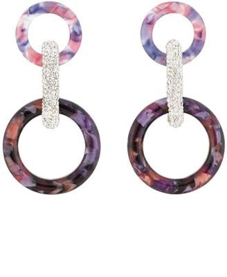 Lele Sadoughi Enchanted intertwining-hoop earrings