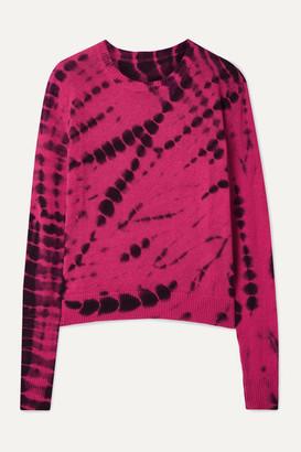 The Elder Statesman Tie-dyed Cashmere Sweater - Fuchsia