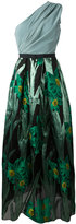Christian Pellizzari floral jacquard gown - women - Silk/Polyamide/Polyester/Polyimide - 42