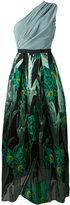 Christian Pellizzari floral jacquard gown