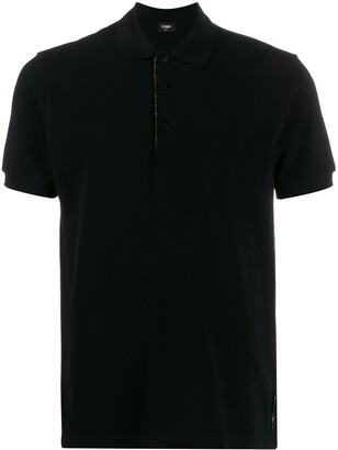 Fendi printed FF detailed polo shirt