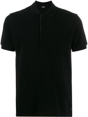 Fendi printed FF detailed polo shirt