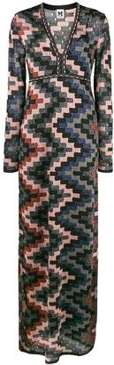 M Missoni geometric print V-neck maxi dress