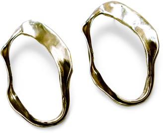 Be. Alice The Shape Of Water #1 Oval Stud Earring In Bronze