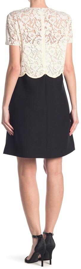 Valentino Lace Scallop Bodice Dress