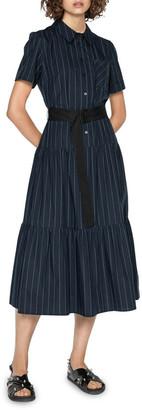 Cue Pinstripe Shirt Dress