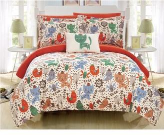 Chic Home Tiggy 6 Piece Reversible Comforter Set Animal Youth Design
