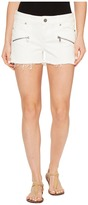 Paige Indio Zip Shorts in Optic White Women's Shorts