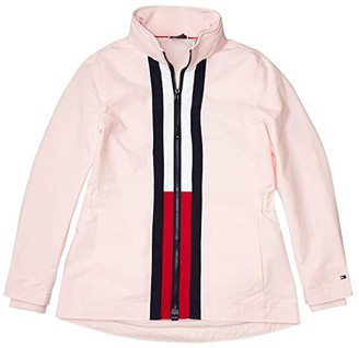 Tommy Hilfiger Adaptive Windbreaker Jacket with Magnetic Zipper (Blushing Bride/Masters Navy/Tango Red) Women's Clothing