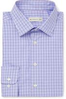Etro Blue Slim-Fit Checked Cotton-Poplin Shirt