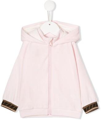 Fendi FF trim hoodie