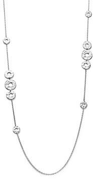 Ippolita Sterling Silver Senso Mixed Open Disc Station Necklace, 38