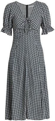 Faithfull The Brand Amber Check Midi Dress