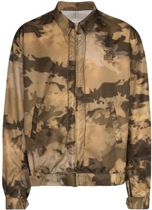 MAISON KITSUNÉ Camouflage-Print Bomber Jacket