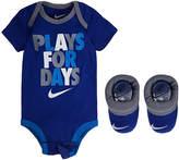 Nike 2pk Bodysuit and Bootie Set