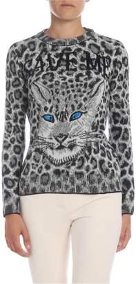 Alberta Ferretti Save Me Animal Printed Sweater