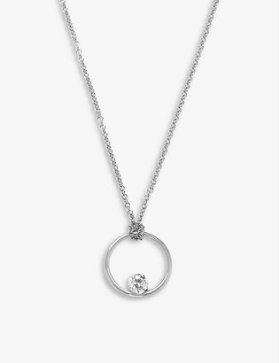 THE ALKEMISTRY Circular 18ct white gold and 0.1ct diamond necklace