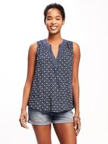 Old Navy Relaxed Tie-Front Sleeveless Blouse for Women