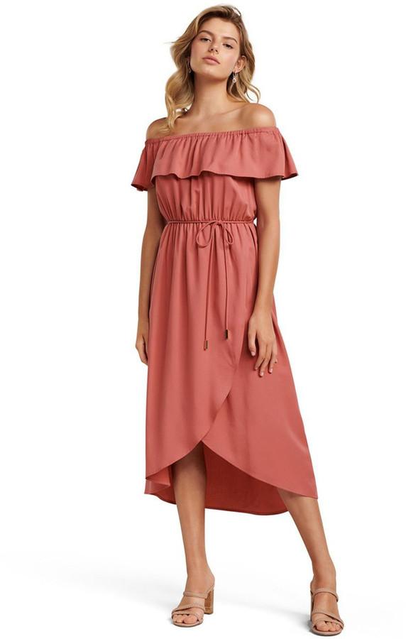 Forever New Petite Sierra Petite Bardot Maxi Dress