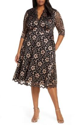 Kiyonna Mon Cheri Lace Cocktail Dress
