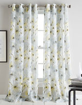 DKNY Modern Bloom Floral Printed Curtain Panel 84in
