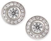 Roberto Coin 18-karat White Gold Diamond Stud Earrings