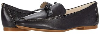 Cole Haan Caddie Bow Loafer (Black Soft Grainy Leather/Knot Bow/Natural Stitch) Women's Shoes