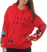Asstd National Brand Mickey Mouse Juniors' True Love Mickey and Minnie Pullover Graphic Hoodie