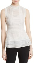 M Missoni Women's Lace Ribbon Peplum Top