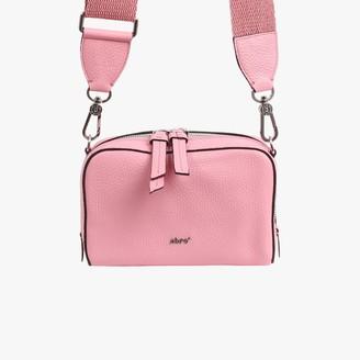 Abro Boxy Pink Pebbled Leather Camera Bag