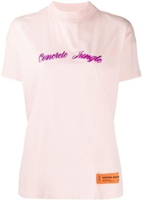 Heron Preston Concrete Jungle mock neck T-shirt