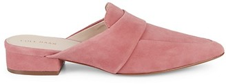 Cole Haan Marlee Suede Point-Toe Mules
