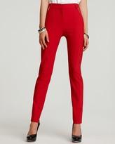 Tropical Wool Skinny Zip Pants