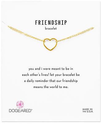 Dogeared 14K Over Silver Friendship Bracelet